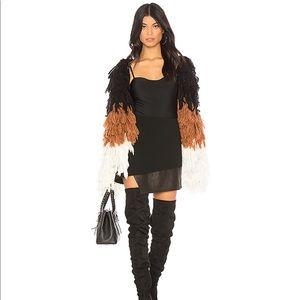 Chrissy Teigan x REVOLVE Shaggy Coat NWOT